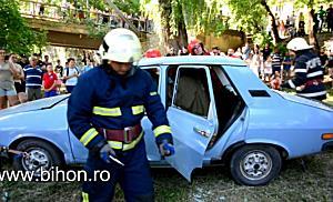 Exercitiu demonstrativ de interventie in caz de accident rutier cu victime