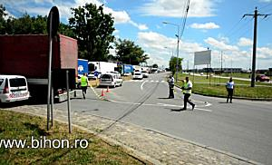 www.bihon.ro - Polițist lovit de un TIR pe Șoseaua Borșului din Oradea
