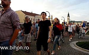 Protest anti-PSD la Oradea