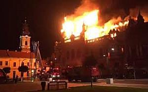 Incendiu devastator la Palatul Episcopiei Greco Catolice din Oradea
