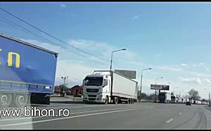 Coadă de autocamioane în Vama Borș