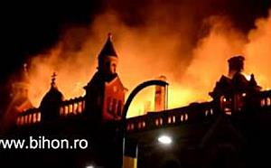 www.bihon.ro - Incendiul de la Palatul Episcopiei Greco Catolice văzut din unghiuri diferite